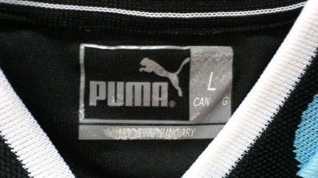 訳あり激安85%オフラッツィオ、公認ユニフォーム、プーマ(美品、黒青、ハンガリー製、L) < ブランドの