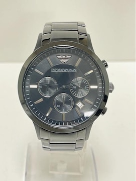 T312 MBR★美品 EMPORIO ARMANI  クロノグラフ 腕時計