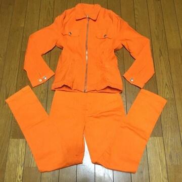 DKNY ダナキャラン キッズ デニム 上下セット オレンジ 10