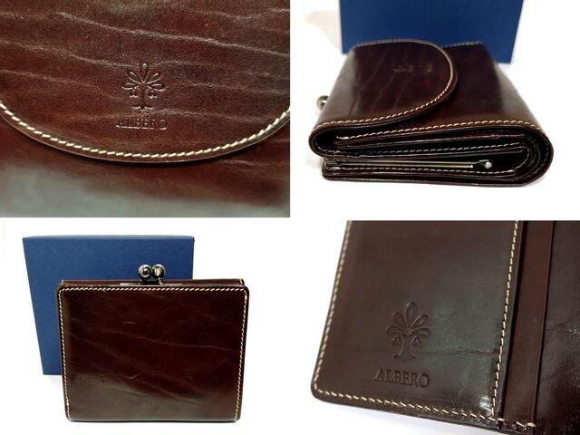 極美品【箱付き】ALBERO イタリア製牛革【がま口】財布 < 女性ファッションの