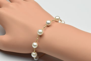 新品 K18 あこや真珠 パール ブレスレット