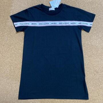 新品タグ付き140半袖ワンピース ビックTシャツ 黒.24