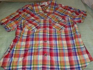 シャツ★半袖  チェック赤