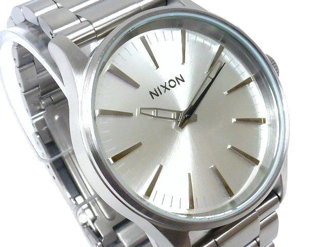 新品正規NIXON SENTRY 38SS ALLSILVER2年保証  < ブランドの