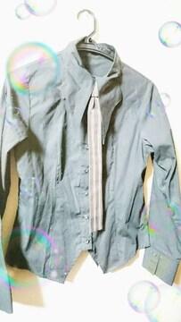 BPN ネクタイ取り外しブラックYシャツ