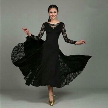 社交ダンス パーティードレス Mサイズ ブラック