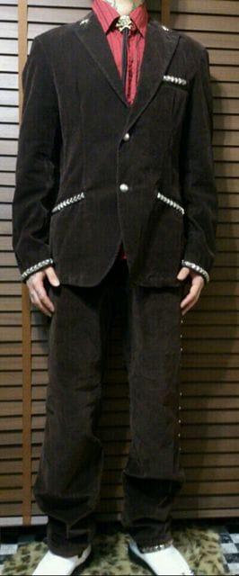 即決トライブワークスロックスターセレブスーツ!ゴシックパンクロックエアロスミスレニークラビッツU2 < 男性ファッションの