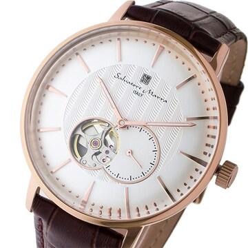 サルバトーレマーラ 自動巻き メンズ 腕時計 SM17114-PGWH
