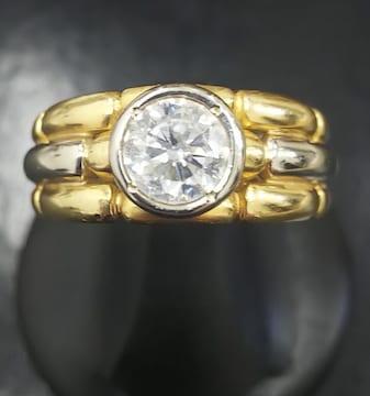 指輪 K18 一粒D1.185 9.4g 23.5号
