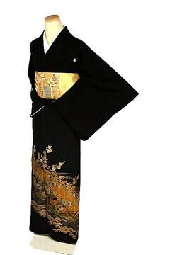 【最高峰】新品同様 名工 金彩友禅【和田光正】黒留袖 T2222