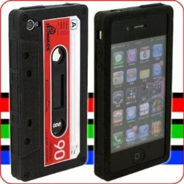 ☆iTape Deck カセットテープ型iPhone 4シリコンケース