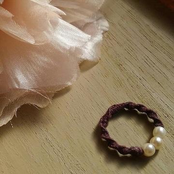 刺繍糸リング (手作り)