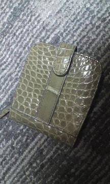 天然クロコダイル 二つ折り財布 ワニ革 未使用品