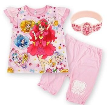 ヒーリングっど プリキュア 光るパジャマ 半袖  ピンク 110cm