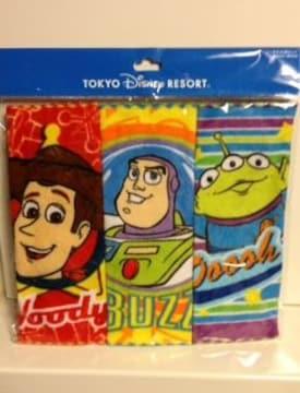 トイストーリー ミニタオル3枚セット ディズニーリゾート 新品