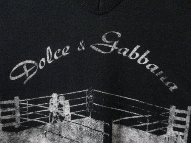 ☆DOLCE&GABBANA/ドルチェアンドガッバーナ 半袖 Vネック Tシャツ/メンズ/44(S) < ブランドの