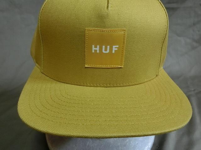 USAストリート系スケボー【HUF】 ロゴワッペン付キャップ  < 女性ファッションの