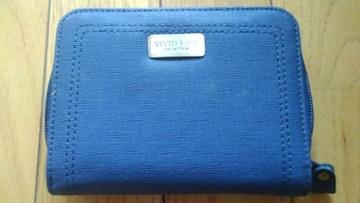 女性用2つ折り財布(^_^)v紺