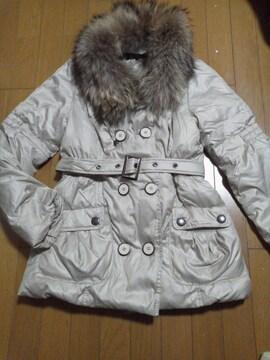 ボリュームラクーンファー付きダウンコート、定価約3万シーシークロス