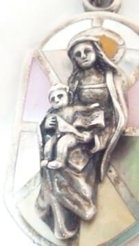 925SILVER 聖母 赤子を抱えた マリア様 ペンダント ネックレス トップ