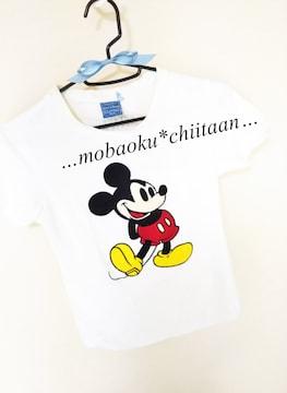 ☆*。ミッキーワッペン〃Tシャツ〃ホワイトカラー*。・