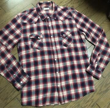 美品 NANO UNIVERSE チェックシャツ ナノ ユニバース