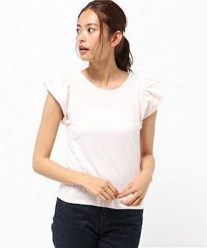 新品タグ付アースミュージックアンドエコロジー半袖フリルトップスTシャツピンク