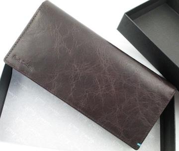 贈り物に☆新品☆箱付 ポールスミス 上質レザー 長財布 濃茶