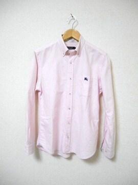 □バーバリーブラックレーベル シャツ 長袖/メンズ/2(M)ピンク