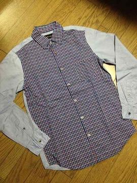 美品BLUE WORK デザインシャツ 日本製 トゥモローランド