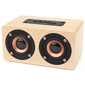 ★送料無料★ 木製 ワイヤレススピーカー Bluetooth
