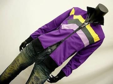 レインボーパッチワークジャージ 紫 M 8860-366