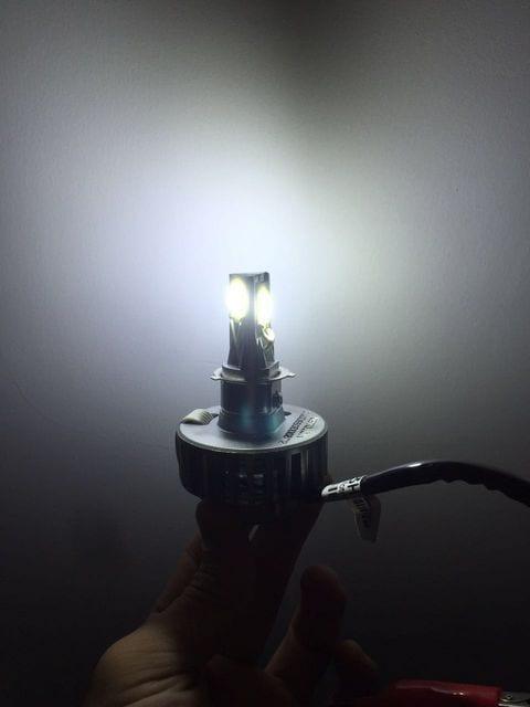 バイク LEDヘッドライト HI-LO PH7.PH8.H4 3面発光18W 送料込 < 自動車/バイク
