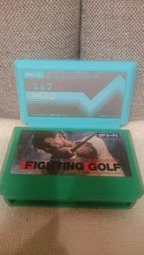 中古 貴重!ファミコン カセット ゴルフ2本セット! 任天堂&SNK 1984 1988