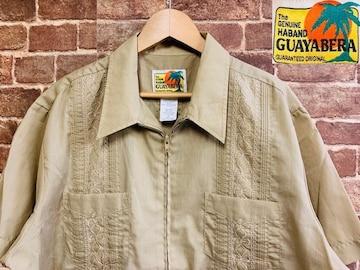実寸XXL!70s80s ビンテージ 刺繍 ガイヤベラ キューバシャツ 古着 アメカジ サーフ