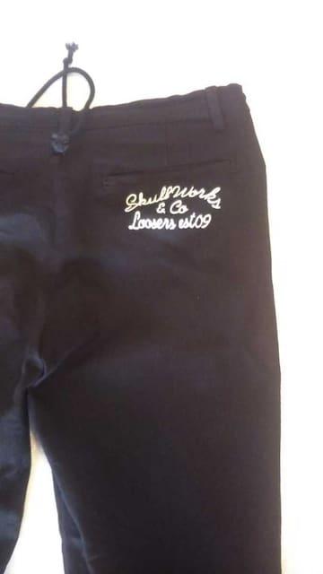 ユーズド/スカルワークス/刺繍チノワークパンツ/L/swep-01 < 男性ファッションの