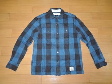 NEIGHBORHOOD ネイバーフッド LOGGER チェックシャツ S青黒