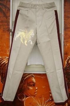 Jah Lion サイド ライン パンツ ライオン ラスタ レゲエ