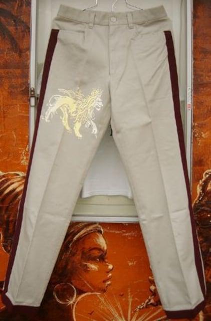 Jah Lion サイド ライン パンツ ライオン ラスタ レゲエ  < 男性ファッションの