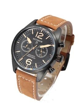 エクステリアEXTERIOR メンズ腕時計 ER1001-BBKBE