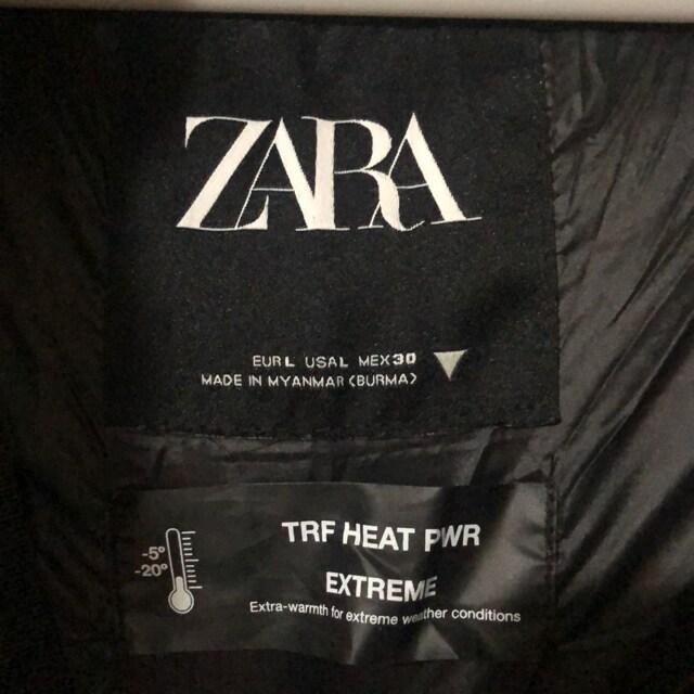 新品同様 ZARA フード付きダウンコート L  黒 19990円
