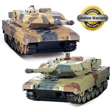 戦車 2パック、2セットリモートコントロール2.4G