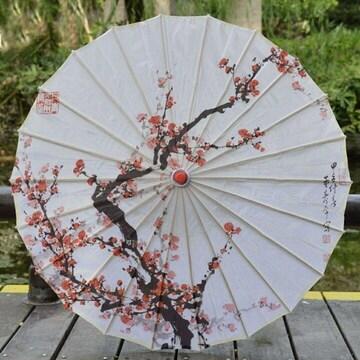 梅の花 傘 インテリア コスプレ かさ パラソル