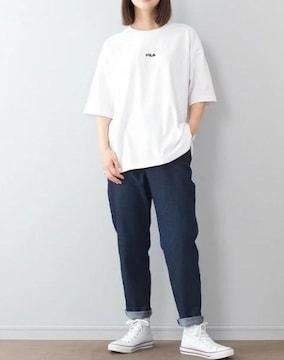 新品!!完売!! FILAフィラ バックプリントBIGTシャツ白
