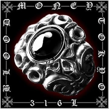 サージカルステンレスリング/メンズ指輪プレゼント/オラオラ系メンエグホスト/12055黒■22号