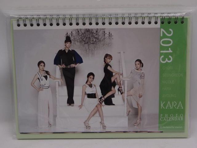 KARA 2013年 卓上カレンダー ステッカー付  < タレントグッズの