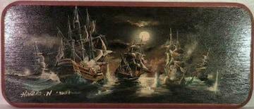絵画 油彩 Hirotaka・N『船2』真作保証
