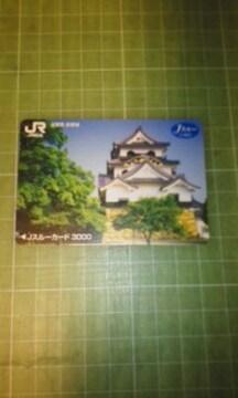 JR西日本Jスルーカード3000滋賀県彦根城使用済み♪