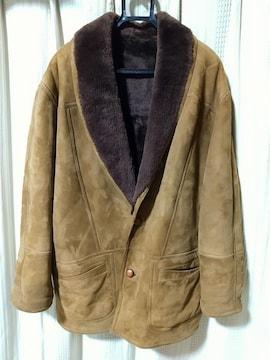 ウンベルトオリビエリumbertoolivieri 裏ボアスエードジャケットサイズ52キャメルイタリア製