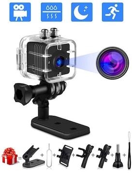 監視カメラ スパイカメラ 1080p高画質 防水 暗視機能